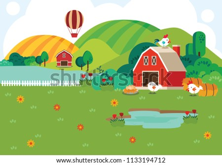 Illustration of  background Farm.