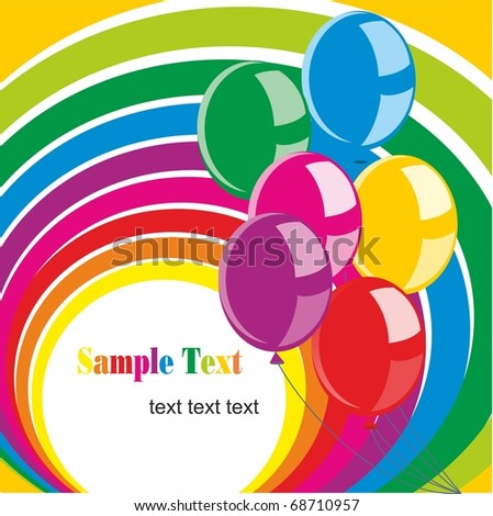 illustration of balloons and space for text