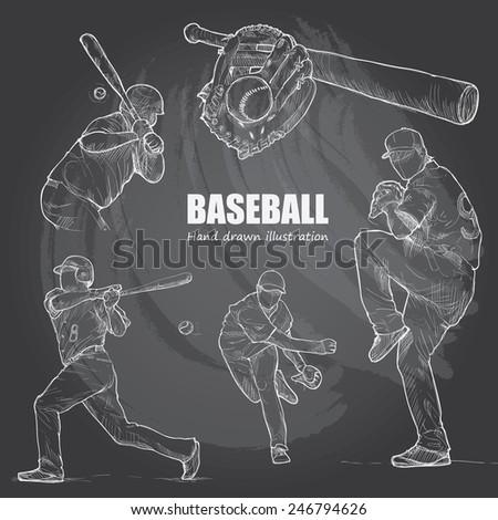 illustration of baseball hand