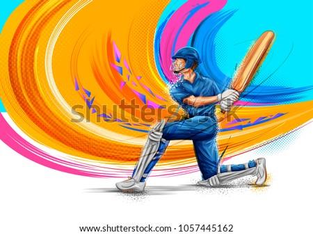stock-vector-illustration-of-batsman-playing-cricket-championship-sports