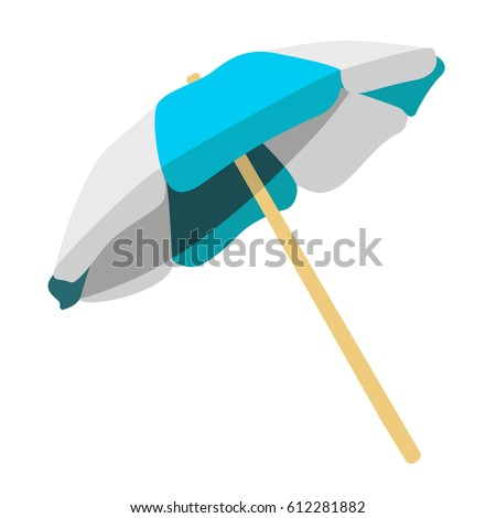 Illustration of beach umbrella