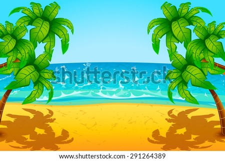 illustration of beach with sand