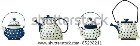 illustration of beautiful ceramic tea pot. - stock vector