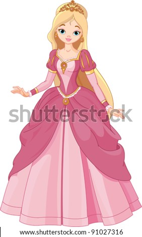 Illustration of beautiful princess
