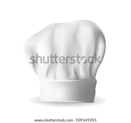 Illustration of beautiful white chef hat for bakers