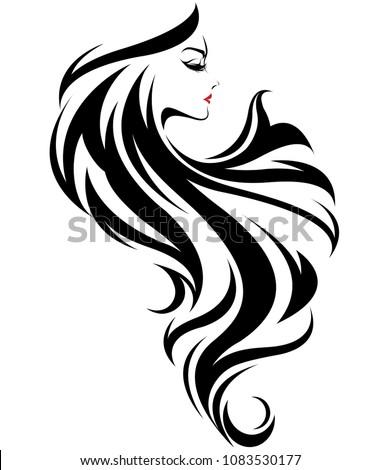 illustration of beautiful women, logo women face makeup on white background, vector