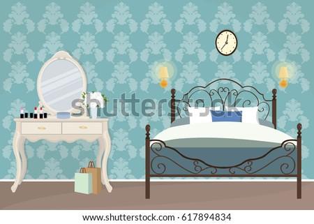 illustration of bedroom...