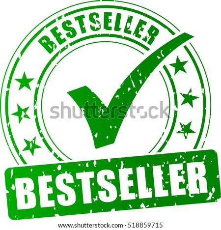Illustration of best seller stamp icon on white background