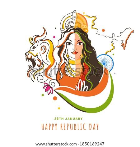 illustration of bharat mata