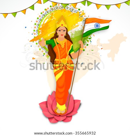 illustration of bharat mata