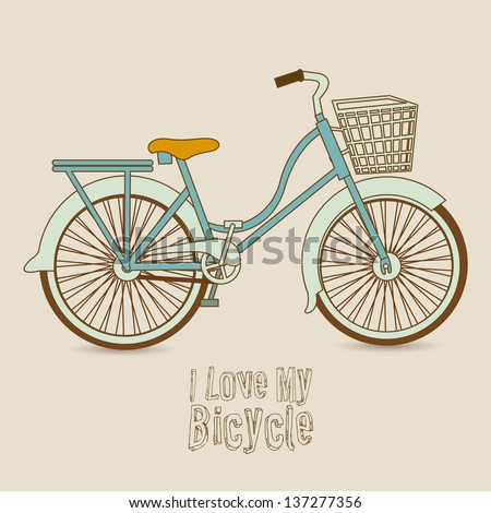 Illustration of Bicycle, Riding on the bicycle, vector illustration
