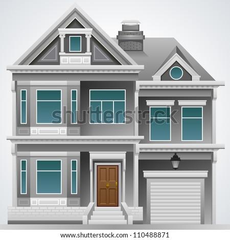 illustration of big beautiful house