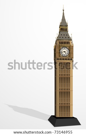 illustration of big ben tower