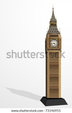 illustration of big ben tower