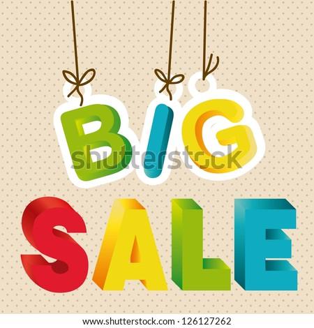 illustration of  big sale label