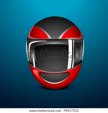 illustration of bike helmet on abstract background