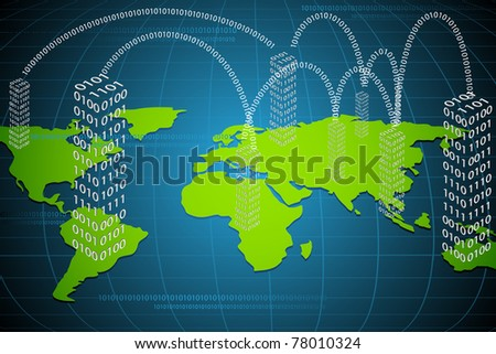 illustration of binary building