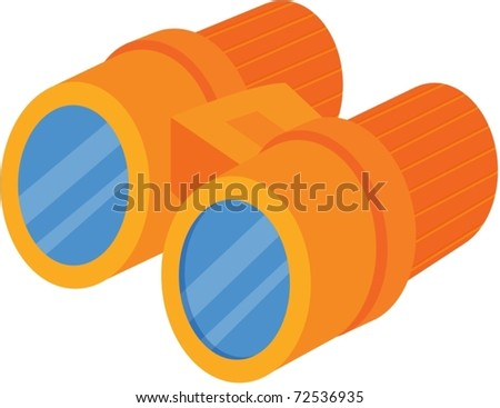 Illustration of binoculars on a white background