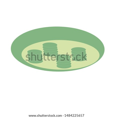 illustration of Biology, chloroplast icon vector