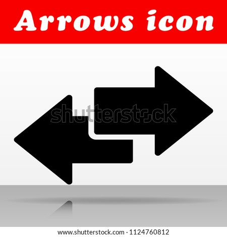 Illustration of black arrows vector icon design
