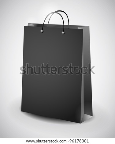 illustration of black shopping bag
