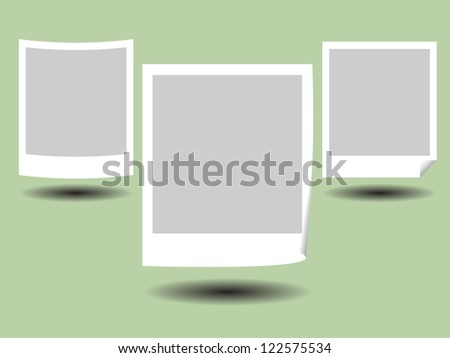 Illustration of Blank Photos Frame with Shadow