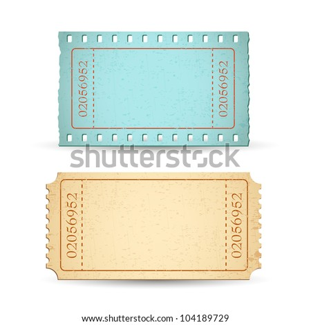illustration of blank ticket with copy space