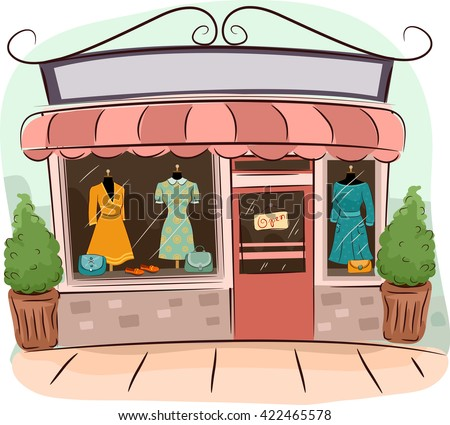 illustration of boutiques...