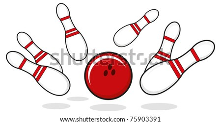 illustration of bowling