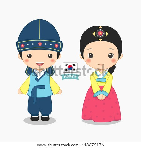 illustration of boy and girl in