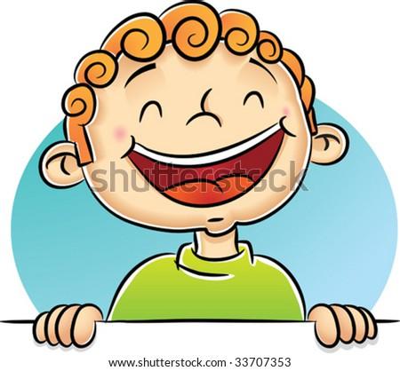 Illustration of Boy Laughing