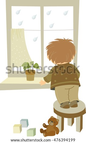illustration of boy looking