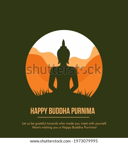 Illustration Of Buddha Purnima Background  Happy Buddha Purnima Vesak