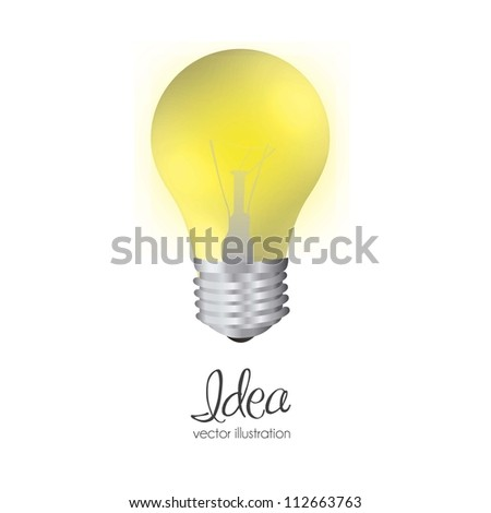 illustration of bulb isolated on white background, vector illustration