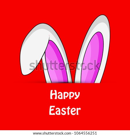 Illustration of bunny ear for the ocassion of Easter