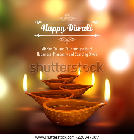 stock-vector-illustration-of-burning-diya-on-diwali-holiday-background