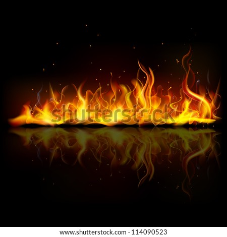 illustration of burning fire