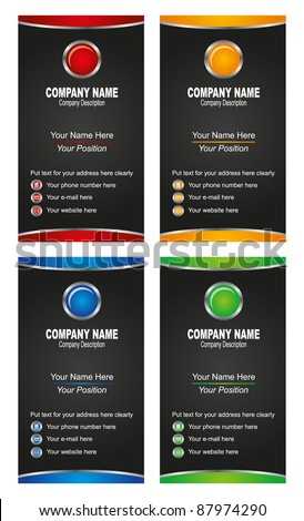 illustration of business card template