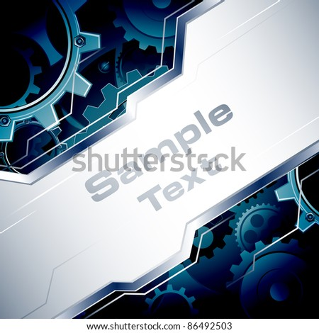 illustration of business template with gear in background