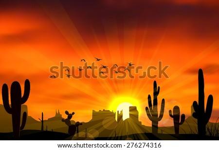 illustration of cactus tree