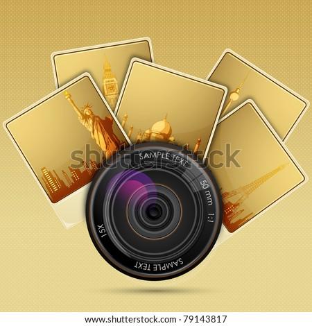 illustration of camera lens
