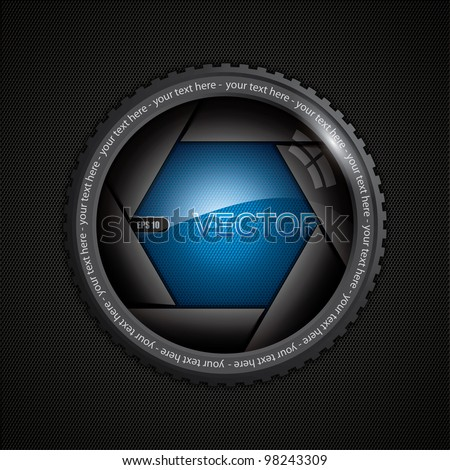 Illustration of camera shutter on polygon texture