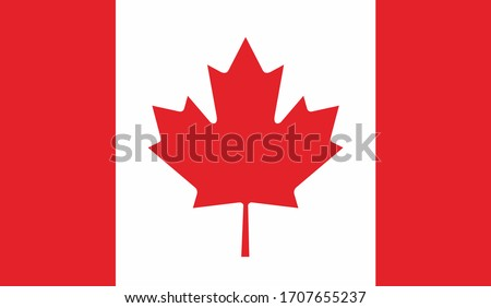 illustration of canada national flag