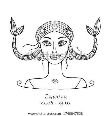 illustration of cancer zodiac