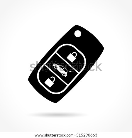 Illustration of car key icon on white background