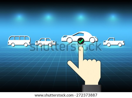 illustration of car model and