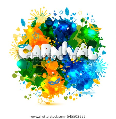 colorful brazil carnival vector illustration download free vector
