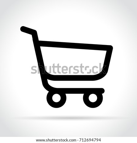 Illustration of cart line icon on white background