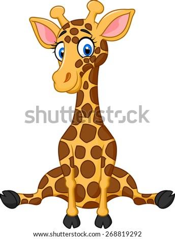 stock-vector-illustration-of-cartoon-cute-giraffe