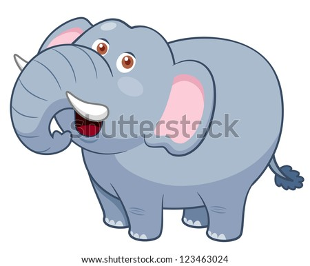 illustration of Cartoon Elephant